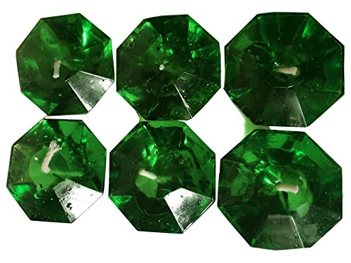 Beautiful Attractive Sainted Gel Diwali Diya, Green color Pack of 6 Diya