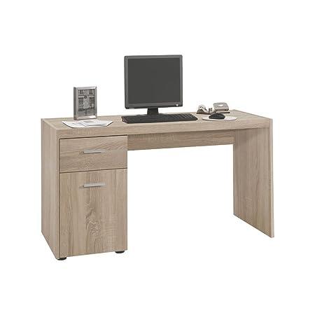 """Schreibtisch """"Ambika"""" - in Eiche Nachbildung, 135x74,5x63 cm, Schreibtisch, Arbeitsplatz, Burotisch, Buromöbel, Arbeitsplatz Möbel, Arbeitszimmer, Home Office, Ecktisch"""