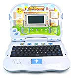 2 in 1 Bilingual Study Machine Educational Toy Laptop for Children, Kids, Learn & Play in English/Spanish, 4 Play Modes, 32 Fun Activities/Games about Language, Math, Music (Blue)