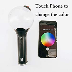 BTS Lightstick Ver.3 Bangtan Boys Concert Light Stick Army Bomb Battery Operated Concert Lamp (Ver.3 with Bluetooth) (Color: Ver.3 With Bluetooth)