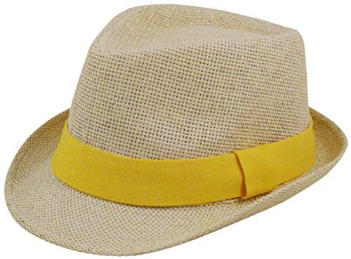 eqoba-man-and-womens-summer-short-brim-natural-straw-fedora-hat-gold