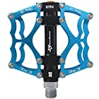 Rockbros Bike Bicycle Pedals 9/16 MTB BMX DH Platform Pedals Cycling Pedals (Blue)