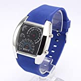 Fashion Trendsetter Watch - Car Meter Dial New Cool RPM Turbo Flash Digital LED Sports Watch For Unisex
