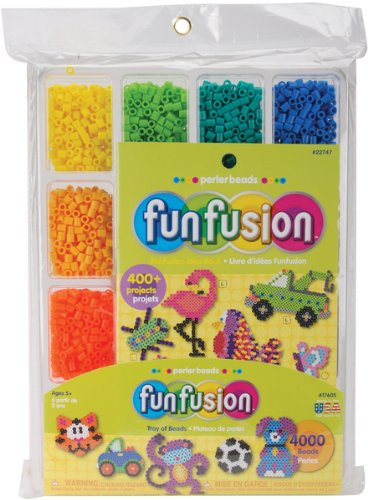 Perler Fuse Beads 4000/Pkg-Fun Fusion/Tray Of Bead - 656411