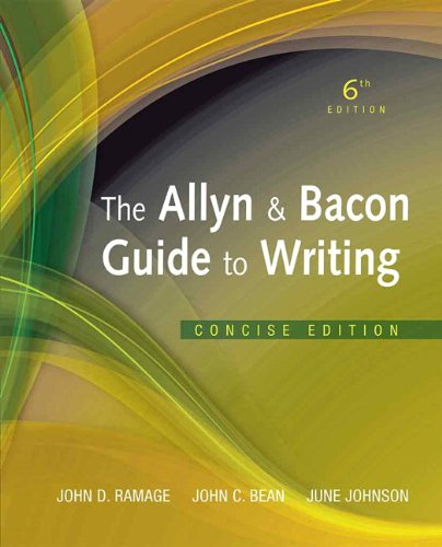 Allyn & Bacon Guide to Writing, The, Concise Edition...
