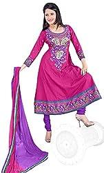 Vatsal Silk Mills Womens Cotton Anarkali Unstitched Dress Material (Zara-1003 _Pink)