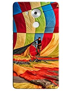 Omnam Person Setting Hot Air Ballon Printed Designer Back Cover Case For Huawei Honor Mate 8