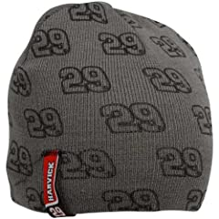 Buy Chase Authentics Kevin Harvick Youth Charcoal Knit Beanie by Football Fanatics