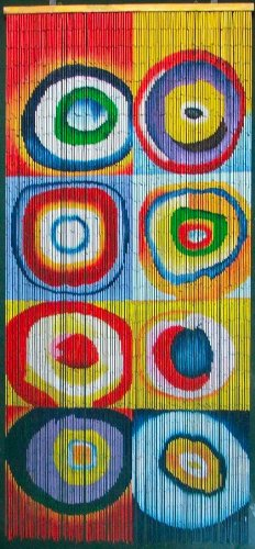 Squares & Rings - Kandinsky Beaded Curtain 125 Strands (+hanging hardware)