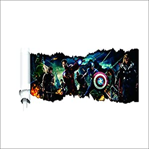 Latest The Avengers Wall Stickers Children Boys Bedroom Decal from WALL ART DECAL