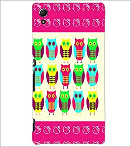 PrintDhaba Owl D-4369 Back Case Cover for SONY XPERIA Z4 (Multi-Coloured)