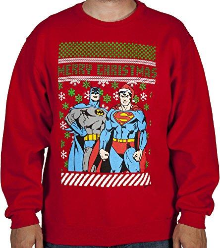 Men's Batman-Superman Christmas Sweater