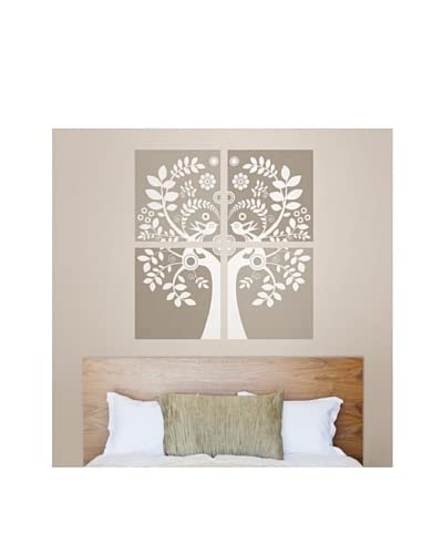 Brewster 2-Sheet Love Birds Wall Decal Set, Large