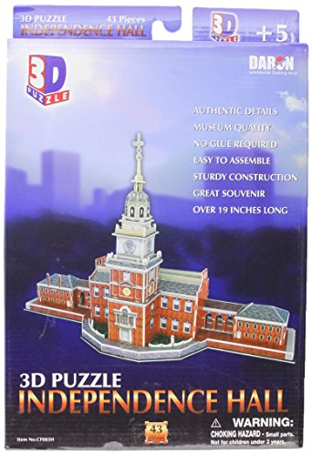 Daron Independence Hall Philadelphia 3D Puzzle, 43-Piece