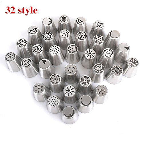 tily-32-pieces-russian-icing-piping-nozzles-tips-russian-stainless-steel-cake-decorating-sugarcraft-