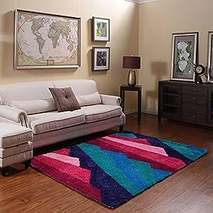 Ustide geometric polyester living room floor for Durable carpet for family room