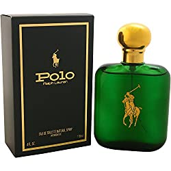 Polo by Ralph Lauren for Men, Eau de Toilette Natural Spray, 4-Fluid Ounce 118 ML With Ayur Lotion FREE