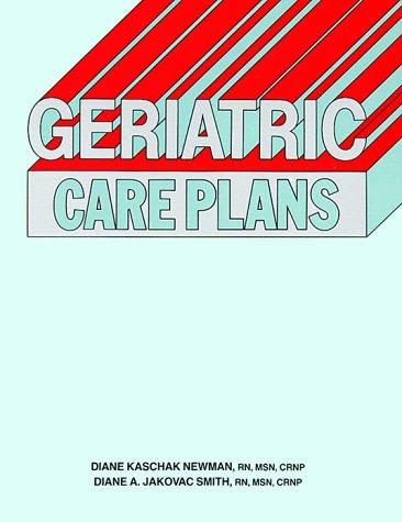 Geriatric Care Plans PDF