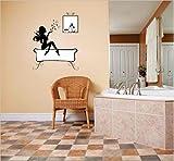 Design with Vinyl Cryst 315 636 As Seen Women Bathing Bath Tub Bathroom Vinyl Wall Decal Art, 30-Inch x 30-Inch, As Seen