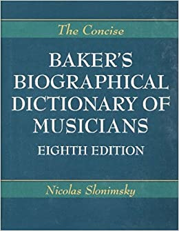 PDF Baker S Biographical Dictionary Of Musicians Free ...