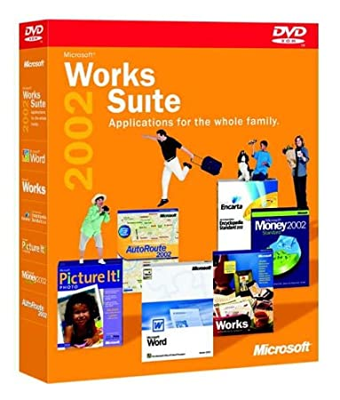 Works Suite 2002 DVD (Word, Money, AutoRoute, Encarta, Picture It)