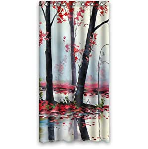 Red Shower Stall Curtains 36 X 72