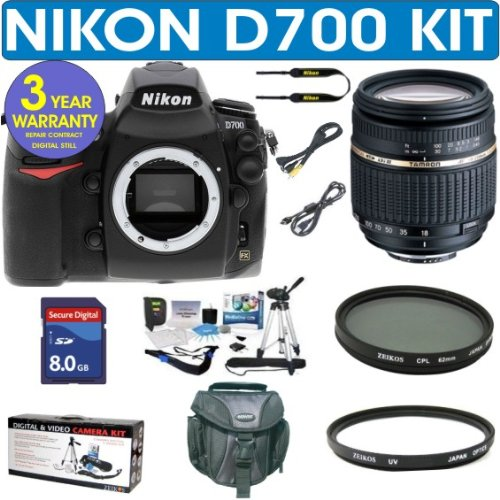 NIKON D700 (IMPORT) Digital SLR Camera + Tamron AF 18-250mm Zoom Lens + 8GB Memory Card + MACK 3 Year World Wide Warranty