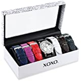 XOXO Women's XO9026 Seven Color Snake Interchangeable Strap Set Watch