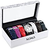 XOXO Womens XO9026 Seven Color Snake Interchangeable Strap Set Watch