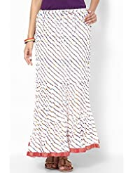 Soundarya Women Cotton Skirts -White -Free Size - B00MPTZMYI