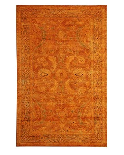 nuLOOM One-of-a-Kind Vintage Hand-Knotted Overdyed Rug, Orange, 4' 7 x 7' 2