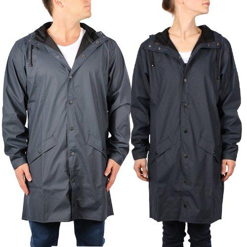 RAINS ApS. RAINS Regenmantel *UNISEX* Long Jacket (S/M, blau)
