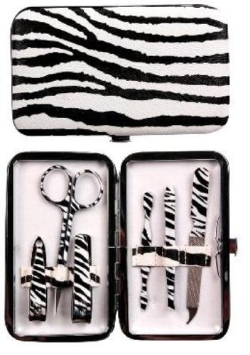 Manual Zebra Purse Sized Manicure Set front-974545