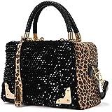 Atdoshop(TM) Frauen Sequin Leopard Messenger-Kreuz-Umhängetasche Handtasche