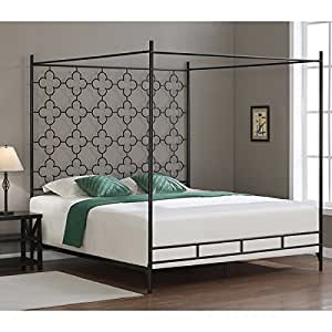 metal canopy bed frame king sized adult kids princess