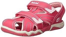 Timberland Adventure Seeker Closed Toe T Dress Sandal (Toddler/Little Kid),Pink,6 M US Toddler