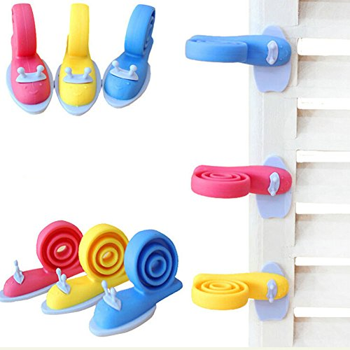 Fairy-Baby-6PCS-Snail-Shaped-Baby-Proofing-Finger-Pinch-Guard-Safety-Door-Stopper