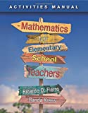 Activities Manual for Fierro's Mathematics for Elementary School Teachers