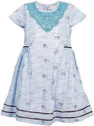 Euphoria Girls' Dress (SKU316F, Blue, 6-7 Years)