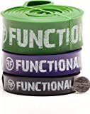 Set of 3 Functional Fitness Pull Up Bands - #3, #4, #5 - 30-250 lbs (14-113 kg)