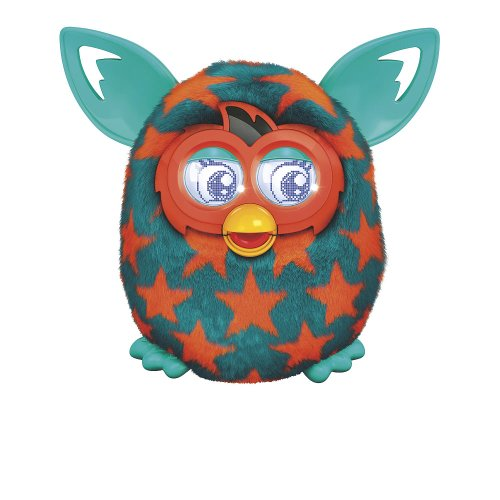 Furby Boom Plush Toy - Orange Stars