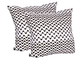 Store Indya 100% Cotton Cushion Covers Set of 2 with a Hidden Zipper for Easy Functionality and Convenience