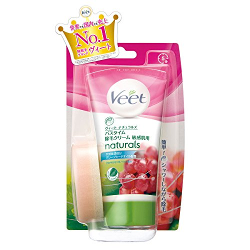 ヴィート ナチュラルズ バスタイム除毛クリーム 敏感肌用 150g (Veet Naturals In Shower Hair Removal Cream Sensitive 150g)