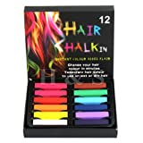 H&S® Temporary Hair Dye Pastel Chalk 12 / 24 / 36 Colours Kit Set (12 Colours)