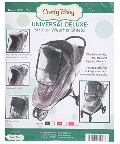 Comfy Baby Universal Deluxe Stroller Weather Shield - black, one size - 1