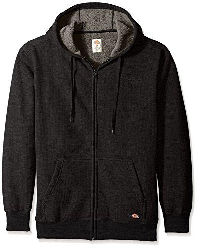 Dickies Men's Full Zip Thermal Hoodie with Sherpa Lining, Black, X-Large (Dickies Thermal Hoodie compare prices)
