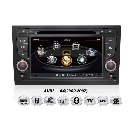 Car Dvd Player Navigation System For Audi A4, S4, Rs4, 8E, 8F, B9, B7 Seat Exeo With Steering Wheel Control/3D Navigation Dvd Tv Usb Sd Ipod Bluetooth 3G/Wifi/20 Disc Cdc/ Dvd Recording/ Phonebook / Game (Original Factory Pannel Design,Free Map)