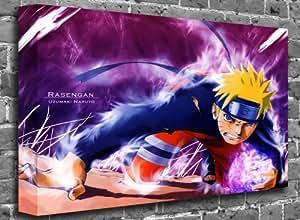 "Naruto - Naruto Uzumaki Rrasengan Animated Comic Canvas Art Canvas Print Picture print Size: (60"" x 40"")"