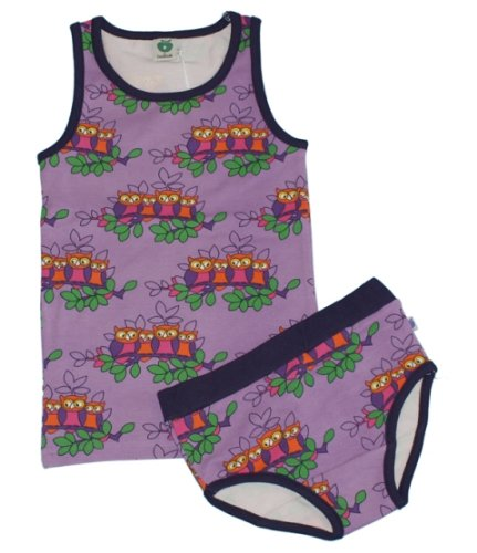 Smafolk Girls Owls Vest & Pants Underwear Set