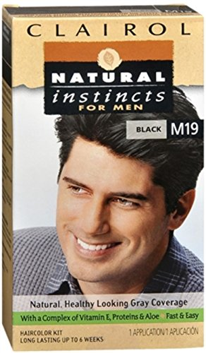 Clairol Natural Instincts Hair Color For Men M19 Black 1 Kit (Pack of 3) (Natural Dye Hair compare prices)